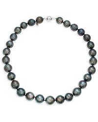 Effy 14k White Gold & 12-15mm Tahitian Pearl Bracelet