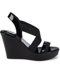 Charles David Women's Platform Wedge Sandals - Black - Size 7.5