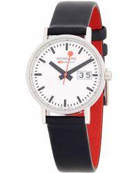 Mondaine - Stainless Steel Strap Watch - Lyst