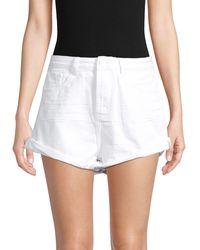 One Teaspoon Bandits High-waist Denim Shorts - White