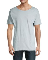 Unsimply Stitched Short-sleeve Cotton Tee - Grey