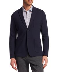 Saks Fifth Avenue Modern Knit Blazer - Blue
