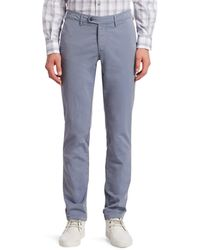Saks Fifth Avenue Collection Buttoned Chino Trousers - Blue