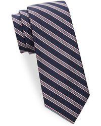 Saks Fifth Avenue - Stripe Silk Tie - Lyst