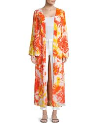 All Things Mochi Louma Tie-dye Cotton Robe - Orange
