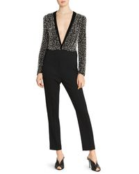 Givenchy Faux-pearl Silk & Wool Jumpsuit - Black