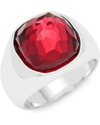 Swarovski - Crystal Solitaire Ring - Lyst