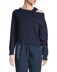 RTA Women's Becket Off-the-shoulder Jumper - Navy - Size Xs - Blue