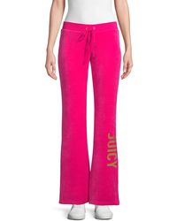 Juicy Couture Logo Velour Joggers - Pink