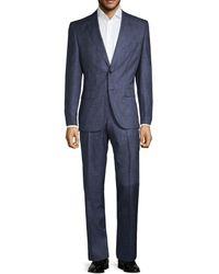 BOSS Colombo Regular-fit Johnston/lenon Virgin Wool & Silk Suit - Blue