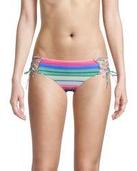 Becca Santa Catarina Striped Bikini Bottoms - Blue