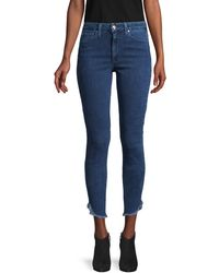 Joe's Jeans High-rise Honey Dolphin-hem Curvy Skinny Ankle Jeans - Blue