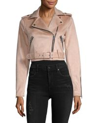 Saks Fifth Avenue - Crop Belted Asymmetric Moto Jacket - Lyst