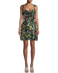 Sanctuary - Printed Ruffled Day Dress - Lyst