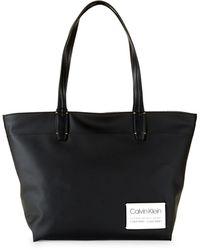 Calvin Klein Celia Small Nylon Tote Bag - Black