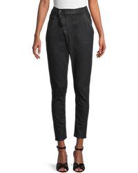 R13 Asymmetrical Cropped Jeans - Black
