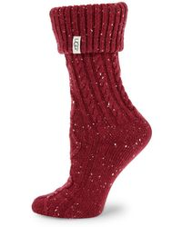 UGG - Shaye Knit Boot Socks - Lyst