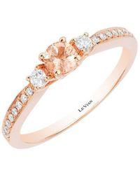 Le Vian - Vanilla Diamond, Peach Morganite And 14k Strawberry Gold Ring - Lyst