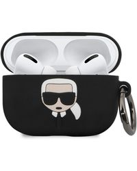 Karl Lagerfeld Embossed 3d Logo Airpods Pro Case Cover - Black