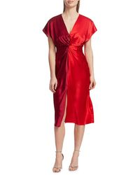 Prabal Gurung Jackie Knotted Silk Dress - Red