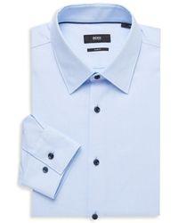 BOSS by HUGO BOSS Jano Regular-fit Wool Dress Shirt - Blue