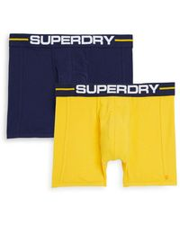 Superdry - Three-pack Logo Boxer Briefs - Lyst