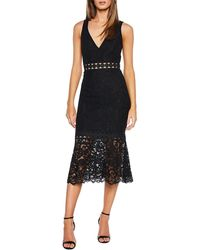 Bardot Fiona Lace Trumpet Dress - Black