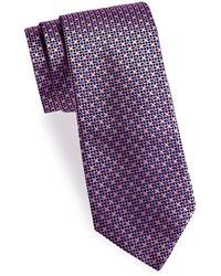 Saks Fifth Avenue - Geometric Silk Tie - Lyst
