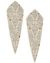 Adriana Orsini - Pavé Cone Post Earrings - Lyst