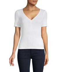 Project Social T Ribbed Short-sleeve Top - White