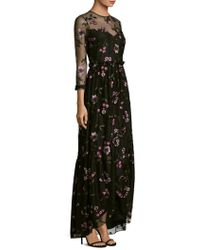 Shoshanna - Essich Floral Long Sleeve High-low Dress - Lyst