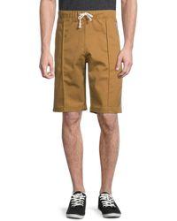 Champion Men's Logo Bermuda Shorts - Tinted Tan - Size S - Brown