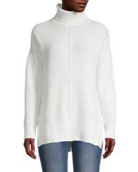 Sweet Romeo Seed Stitch Turtleneck Sweater - Black