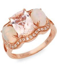 Effy 14k Strawberry Gold®, Peach Morganitetm, Neopolitan Opaltm & Vanilla Diamonds® - Multicolour