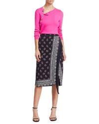 Altuzarra Jude Bandana-print Fringed Skirt - Black