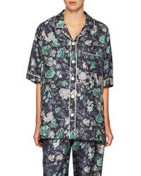 Burberry - Floral-print Mulberry Silk Shirt - Lyst