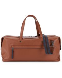 Ted Baker Men's Crossgrain Faux Leather Holdall Bag - Tan - Brown