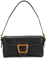 Sam Edelman Women's Dallie Leather Shoulder Bag - Black
