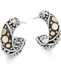 John Hardy - Jaisalmer Small Hoop Earrings - Lyst