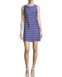 Diane von Furstenberg Carrie Hexagon Dress - Blue