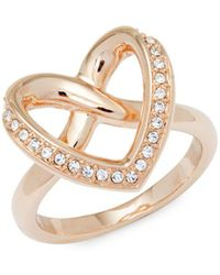 Swarovski - Crystal Heart Ring - Lyst