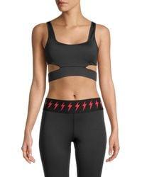 Electric Yoga Cutout Sports Bra - Black