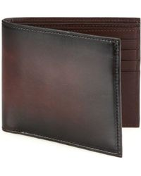Saks Fifth Avenue Collection Burnished Leather Bifold Wallet - Brown