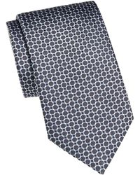 Brioni Circle Link Silk Tie - Red
