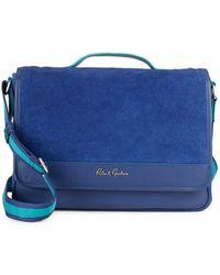 Robert Graham Gohanni Leather Messenger Bag - Blue