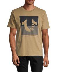 True Religion Men's Two-tone Logo Graphic T-shirt - White - Size L