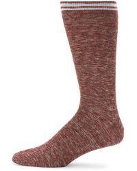 Saks Fifth Avenue - Striped Cuff Socks - Lyst