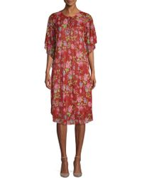 Balenciaga - Rose Jersey Plisse Dress - Lyst
