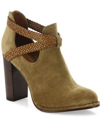 Frye - Margaret Braid Suede & Leather Booties - Lyst