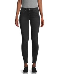 True Religion Halle Mid-rise Super Skinny Jeans - Black